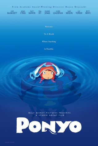 Постер к фильму Рыбка Поньо на утесе